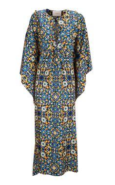 Talitha Printed Silk Crepe De Chine Caftan by La DoubleJ Best African Dresses, African Traditional Dresses, Latest African Fashion Dresses, African Print Fashion, African Attire, African Wear, African Prints, African Print Dress Designs