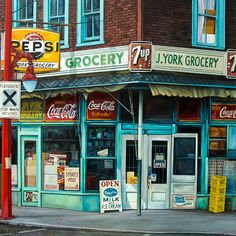 WILL RAFUSE - Jim York Grocery, 2016 Photo credit: James R. Page Oil on Canvas  40 × 40 inches