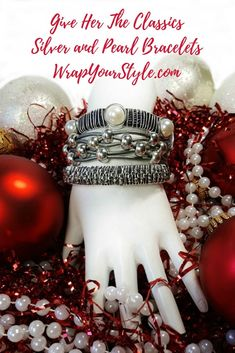 Leather and pearl jewelry pieces are wonderful unique gifts for women!  Grab your leather and pearl jewelry now before the rush of the holidays! #wrapyourstyle #leatherbracelets #bracelets #womensleatherbracelets #christmasgiftideas
