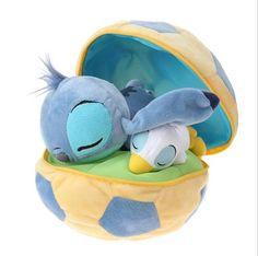 Sleeping Stitch & Duck Soccer Ball Plush
