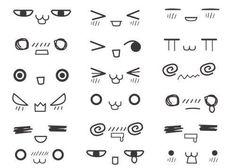 Kawaii eyes  faces