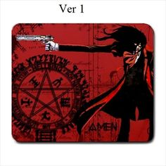 Hellsing, Alucard, Mousepad, Ultimate, Anime, Manga, Vampire, Anderson, Seras, Victoria, Mouse Pad, Dracula, Helsing, Dark, Goth, Black, Red