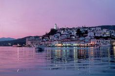 #ridecolorfully  Ride colorfully in Poros, with a  fine setting on the islet of Sferia.