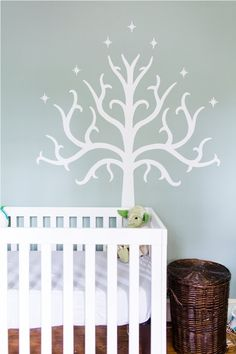 """Oliver's """"Geek Chic"""" Nursery- Star Wars and Lord of the Rings; featured on Apartment Therapy"""