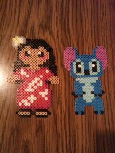Lilo and Stitch hama perler beads by Bryan Nichols