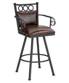 leather swivel counter stool with arms everything you need in this exquisite counter stool look the barrington home vermont 26 in