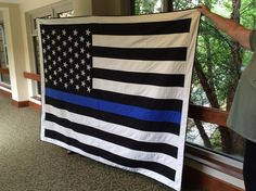 Hey, I found this really awesome Etsy listing at https://www.etsy.com/listing/241176968/thin-blue-line-quilt