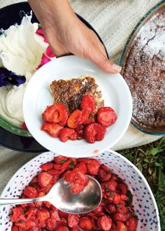 Our 5 Absolute Best Cheesecake Recipes: Almond Cheesecake with Macerated Strawberries and Mint (Ostkaka med Färska Jordgubbar och Mynta)