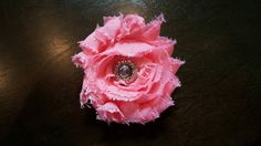 Check out this item in my Etsy shop https://www.etsy.com/listing/238655502/shabby-chic-pink-rose-hair-clip