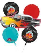 Classic 50s Balloon Bouquet 5pc - Party City