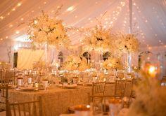 Gold Wedding Ideas - An Elegant Gold and White Sarasota Wedding