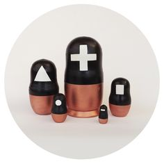 Cool/Weird/Wonderful// Symbol Nesting Dolls