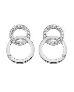 4415ef419 Hot Diamonds Bliss Interlocking Circles Silver Stud Earrings