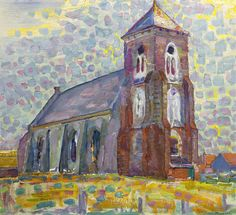 MONDRIAN 1872 - 1944 Church In Zoutelande Not the style Piet Mondrian is most famous for, but a great piece of ART!PIET MONDRIAN 1872 - 1944 Church In Zoutelande Not the style Piet Mondrian is most famous for, but a great piece of ART! Piet Mondrian, Kandinsky, Theo Van Doesburg, Dutch Painters, Dutch Artists, Art Moderne, Vintage Artwork, A4 Poster, Figure Painting