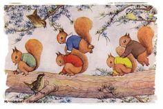 Leap Frog' postcard illustration by Margaret Tempest - posted  1944