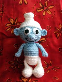 MUST check this out later! 1500 Free Amigurumi Patterns: Free crochet pattern for a Smurf