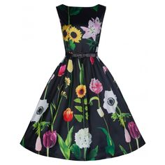 'Audrey' Wild Garden Print Swing Dress This is so fun. Probably need this too. #icanpinarainbow