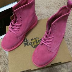 Dr Martens 1460  Pink Size:UK3-UK6 ,Email:wangxia11073@hotmail.com Dr Martens 1460, Dr. Martens, Cherry Red, Timberland Boots, Red Green, Sneakers, Pink, Shoes, Black