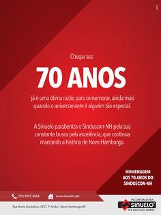 Anúncio Sinuelo 70 anos Sinduscom-NH.