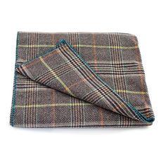 100% Wool Flannel Multi Throw - Brown Multi (491569392), Throw Blankets