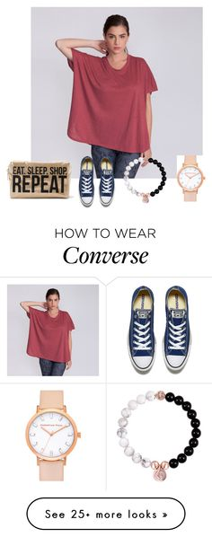 """Simple chic"" by andyveeirn on Polyvore featuring Converse"