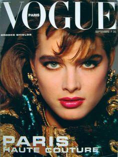 Brooke Shields photographiée par Patrick Demarchelier pour le numéro de septembre 1983 de Vogue Paris