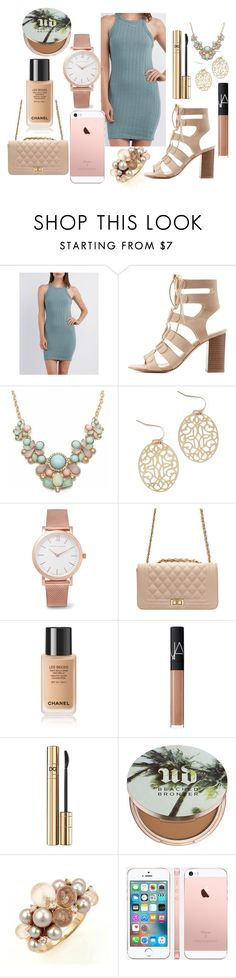 """Untitled #189"" by the-fashion-fantasy ❤ liked on Polyvore featuring Charlotte Russe, Larsson & Jennings, NARS Cosmetics, D&G, Urban Decay and Mimí"