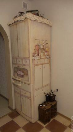 Купить Роспись моего холодильника:) - комбинированный, роспись холодильника, роспись на заказ, декор холодильника
