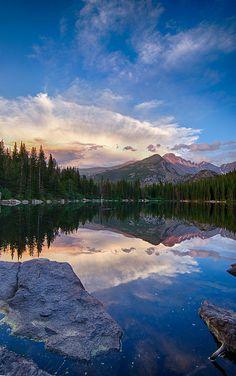 Bear Lake Sunset, Rocky Mountain National Park, Colorado