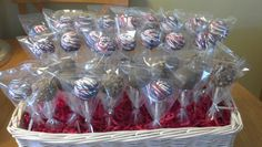 Heath cake pops/memorial day cake pops