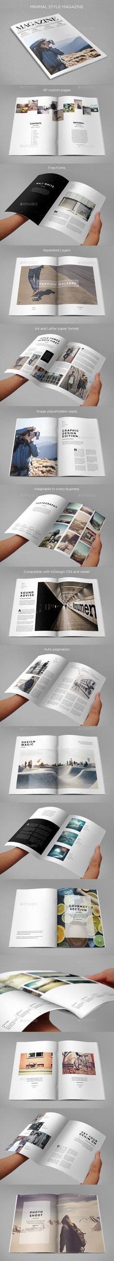 Minimal Style Magazine by AbraDesign MINIMAL STYLE MAGAZINECool magazine with a minimal and stylish look. Available in A4 and Letter paper formats. It contains 40 pag