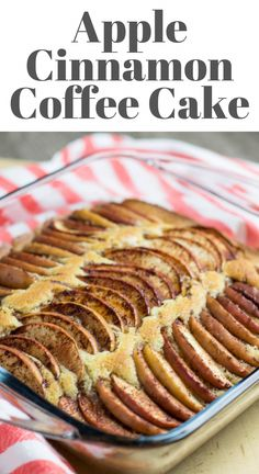 Apple Cinnamon Coffee Cake recipe has a scrumptious moist and buttery cake base topped with aromatic sliced cinnamon apples. It is a great easy recipe for the holiday season which can be served as a dessert or for breakfast. Easy Cookie Recipes, Best Dessert Recipes, Apple Recipes, Fun Desserts, Fall Recipes, Baking Recipes, Christmas Recipes, Thanksgiving Recipes, Creative Desserts