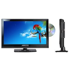 Axess 13.3 LED AC-DC TV with DVD Player Full HD with HDMI, SD card reader and USB