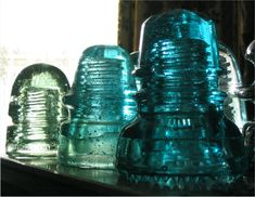 We used to find these on the railroad tracks ...vintage glass insulators. I think they were from the poles above the tracks where the electricity lines ran.  That might be cool to collect too. :)