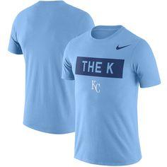 8267e06b09f3 Men s Kansas City Royals Nike Light Blue Local Phrase Performance T-Shirt.  Sport WearDri Fit ...