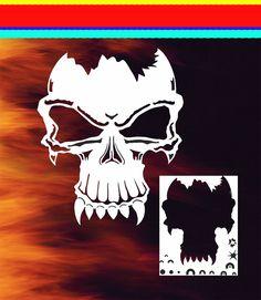 Skull 10 Airbrush Stencil Spray Vision Template air brush in Crafts, Multi-Purpose Craft Supplies, Stencils & Templates   eBay