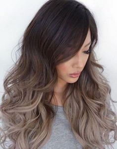 Casual Ash Blonde Ombre- Ideas for ash blonde and silver ombre hair
