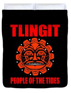 The Tlingit Duvet Cover featuring the digital art Tlingit-people Of The Tides 2 by Otis Porritt