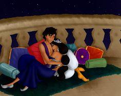 Arabian Nights by nandomendonssa on DeviantArt Disney Princess Jasmine, Disney Princess Quotes, Aladdin And Jasmine, Disney Couples, Disney Love, Disney Magic, Disney Art, Disney Pixar, Arabian Nights
