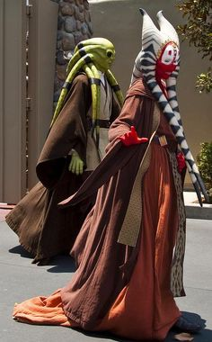 Star Wars Cosplay (these look so amazing, I wonder if this photo was really taken at a Star Wars Weekend thing at Disney World)