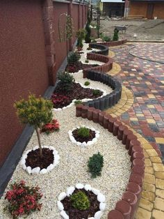Landscaping With Rocks, Front Yard Landscaping, Landscaping Ideas, Backyard Ideas, Patio Ideas, Mulch Landscaping, Backyard Patio, Diy Patio, Pool Ideas