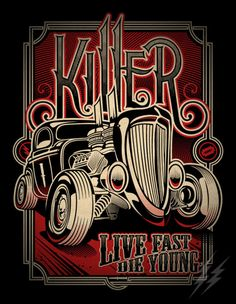 "Killer ""Hot Rod"" by Jonathan Sherwood, via Behance"