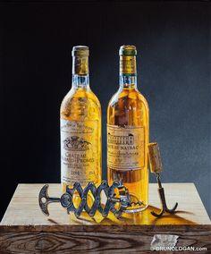 duo d'ambre au zig-zag- 46x38cm : Accessoires und Dekoration von Peinture en trompe-l'oeil by Bruno Logan