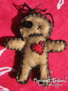 Cutely Spooky Hand Stitched Felt Voodoo Dolls by MyrcurysToybox