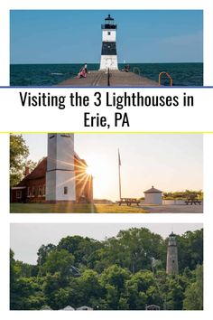 There are 3 historic lighthouses in Erie, Pennsylvania. Find out about their history and see a few of our favorite images of them. Presque Isle State Park, Lighthouse Keeper, Great Lakes Region, Maritime Museum, Lake Erie, Boat Tours, Covered Bridges, Nice View, Travel Around