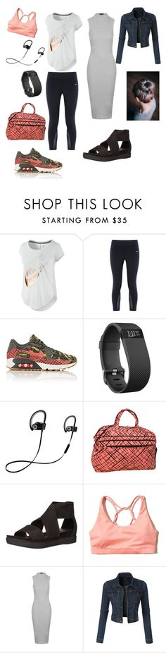 """Before and After!"" by sincerelyyours78 on Polyvore featuring NIKE, Fitbit, Beats by Dr. Dre, Eileen Fisher, Hollister Co., Topshop, LE3NO, women's clothing, women and female"