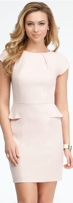 Shop bebe's sexy dresses for women. With on-trend dress styles, you'll find the perfect dress for every occasion. Order chic and sexy dresses from bebe today! Office Outfits Women, Office Dresses, Dresses For Work, Pencil Dress, Skater Dress, Peplum Dress, Style Couture, Haute Couture Fashion, Secretary Outfits