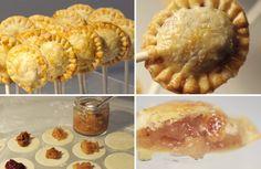 They're pie lollipops. Pie on a stick. It's pie crust wrapped around a pie filling center. It's BRILLIANT.