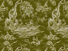 Tien Velvet in Green from Brunschwig & Fils | Kravet  | LFF Designs | www.facebook.com/LFFdesigns