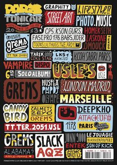 Paris Tonkar magazine // Graffiti and Street art: Paris Tonkar magazine #8